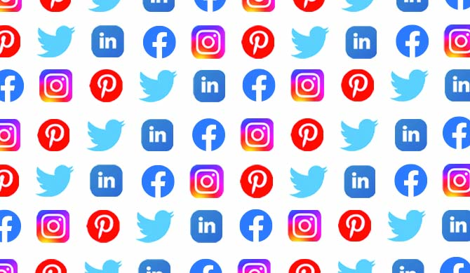 Best social media marketing channels collage