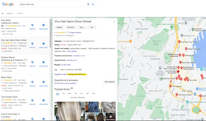 google my business how to claim listing